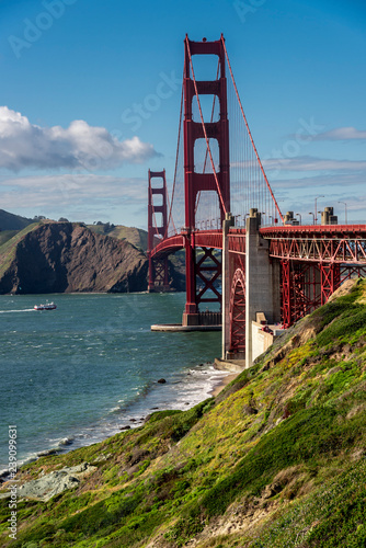 mata magnetyczna golden gate panorama, view of the golden gate from the bay, san francisco united states