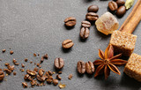 coffee with dark chocolate, cinnamon, anise and cookies