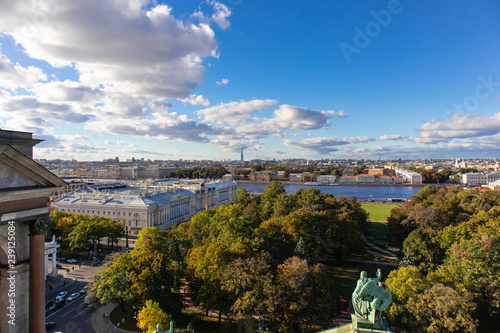 Saint Petersburg's skyline from a high point of view