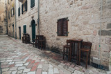 narrow streets of the old town of Montenegro, Kotor