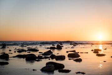 beautiful sunset on the sea © Valentina