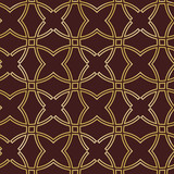 Seamless ornament in arabian style. Geometric abstract brown and golden background. Pattern for wallpapers and backgrounds - 239175469