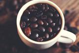 coffee granules on cup