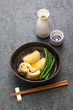 Yuba maki, tofu skin dish, Japanese vegetarian food