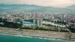 Cloudy Batumi aerial view, Batumi black sea drone footage