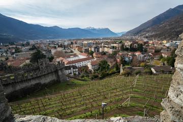 panoramic view of Bellinzona city , Switzerland © Ksenia Molina