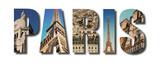 Paris France collage on white © zimmytws