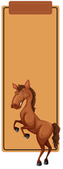 Horse on blank template © blueringmedia