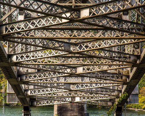 Bridge supports on Columbia River