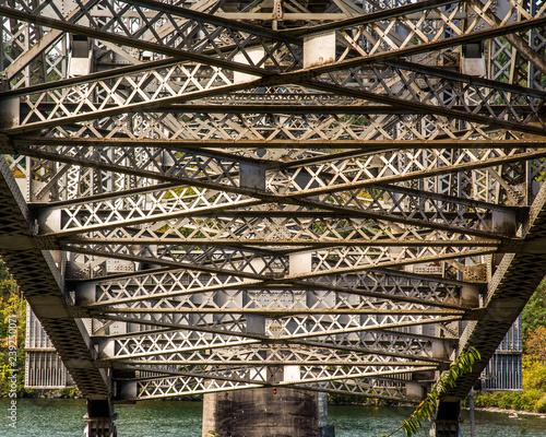 Bridge supports on Columbia River