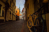 bicycle in the street of old town