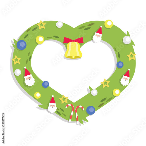 Christmas Garland Heart Cartoon Flat Style Buy Photos Ap