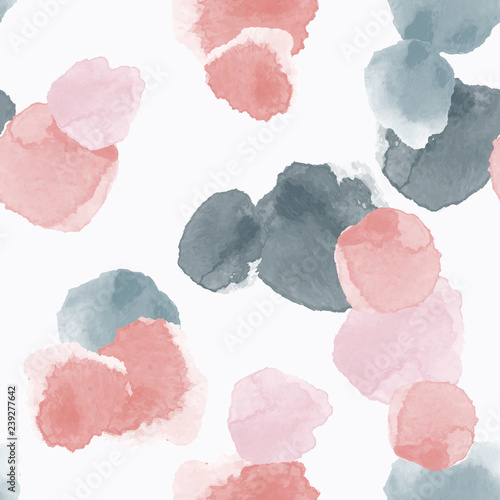 Abstract seamless pattern with colorful watercolor shapes made in vector - 239277642
