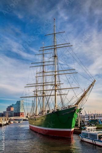 Leinwanddruck Bild Hamburg, Hafen