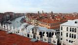 Venice in Italy and the RIALTO bridge and the grand canal