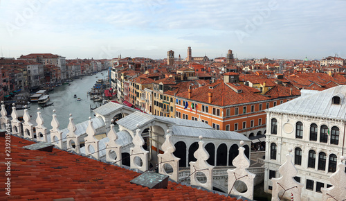Foto Murales Venice in Italy and the RIALTO bridge and the grand canal
