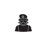Che guevara black vector concept icon. Che guevara flat illustration, sign, symbol