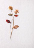 Dried flatted flowers