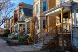 Row of Homes in Andersonville Chicago