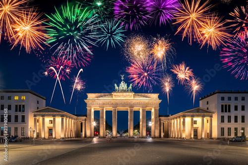 Leinwanddruck Bild Silvester feiern in Berlin, Deutschland