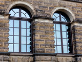 View at old building with windows in baroque style in Germany
