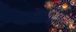 Leinwanddruck Bild - Wunderschönes Feuerwerk