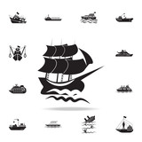 sailboat in the sea icon. Detailed set of ship icons. Premium graphic design. One of the collection icons for websites, web design, mobile app