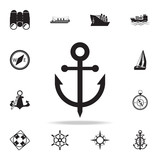 anchor icon. Detailed set of ship icons. Premium graphic design. One of the collection icons for websites, web design, mobile app