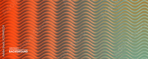 Abstract wavy background for banner, flyer and poster. Dynamic effect. Vector illustration. Cover design template. Can be used for advertising, marketing, presentation. - 239445224