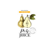Pear juice design with type and hand drawn pears - 239450435