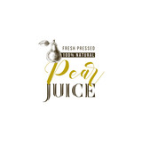 Pear juice type design with hand drawn pear - 239450457