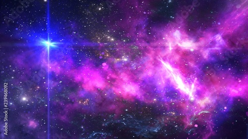 Planets and galaxy, cosmos,  physical cosmology, science fiction wallpaper. Beauty of deep space. Billions of galaxies in the universe Cosmic art background © ธนพล สินสร้าง