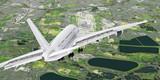 Landeanflug eines Passagierflugzeuges auf London Airport © apfelweile
