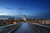 Millenium Bridge, with St. Paul's Cathedral, UK © Iakov Kalinin