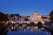 Quadro Tiber and St Peter Basilica in Vatican, sunrise time