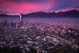 Atardecer sobre la ciudad de Santiago