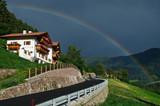 Landschaft mit Regenbogen bei Tiers in Südtirol © Eberhard