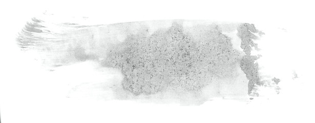 Abstract watercolor background hand-drawn on paper. Volumetric smoke elements. Neutral Gray color. For design, web, card, text, decoration, surfaces. © colorinem