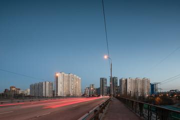 traffic in the city at night © Илья Егоркин
