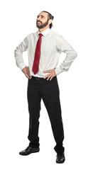happy businessman on white © tiero