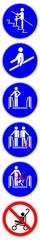 ssne16 SafetySignNewEscalator ssne - shas563 SignHealthAndSafety shas - german - Handlauf benutzen (vertikal) Rolltreppe - english - use handrails provided (vertical) escalator - xxl 1to6 g6878 © fotohansel