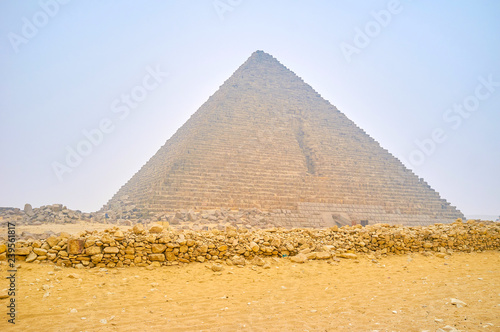 The small Pyramid of Menkaure in Giza, Egypt