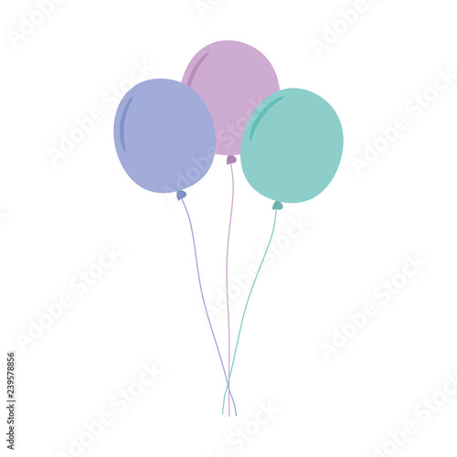 balloons helium floating icon