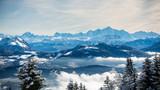 Vue sur le Mont-Blanc depuis le signal des Voirons © Vincent