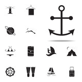 ship's anchor icon. summer pleasure icons universal set for web and mobile