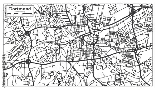 Dortmund On Map Of Germany.Dortmund Germany City Map In Retro Style Outline Map Buy Photos