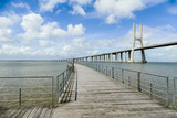 wooden bridge on the beach, beautiful photo digital picture, in Lisbon Capital City of Portugal