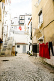 street in old town of the cote dazur france, in Lisbon Capital City of Portugal