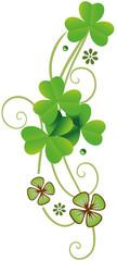 St Patrick Day. Realistische Kleeblätter. Irish Day. © christine krahl
