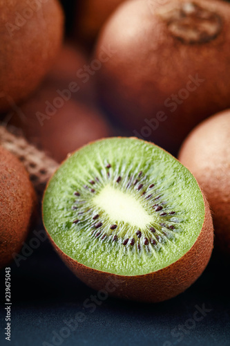 Kiwifruit also known as kiwi or Chinese gooseberry